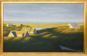 Joan Albaugh Oil on Canvas View Over Tom Nevers Pond