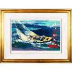 LeRoy Neiman 1970 America's Cup, Serigraph Signed