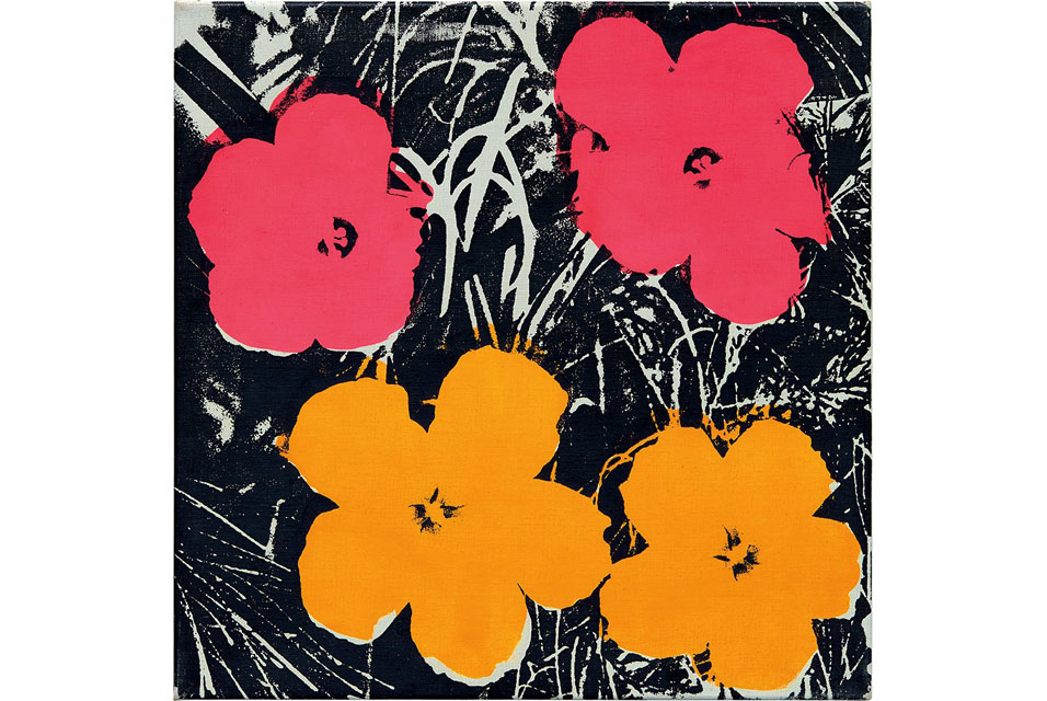 Andy Warhol, Flowers. Acrylic and silkscreen ink on canvas, 24 x 24 in. (61 x 61 cm) Executed in 1964-65. Estimate: £1,000,000 - 1,500,000. Image courtesy of Phillips.