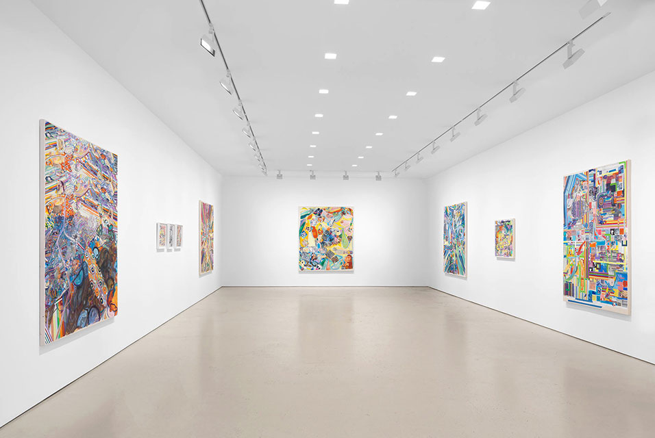 Installation view of Franklin Evans: fugitivemisreadings, 24 June – 31 July 2021. Image: Christopher Burke Studio. Courtesy of the artist and Miles McEnery Gallery, New York, NY