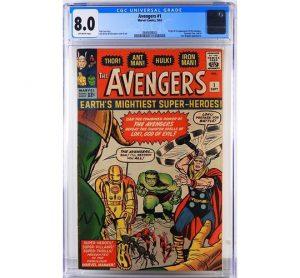Marvel Comics Avengers 1 CGC 8.0