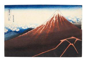 Katsushika Hokusai (1760-1849) Sanka Hakuu (Storm Below The Summit) [Black Fuji]