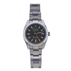 Rolex Milgauss Green Crystal Black Dial Watch 116400