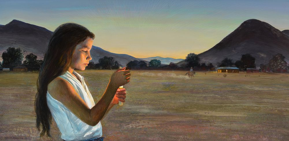 Peter Hurd, The Eve of St. John, Sold at Auction: $157,300, a World Record for Peter Hurd
