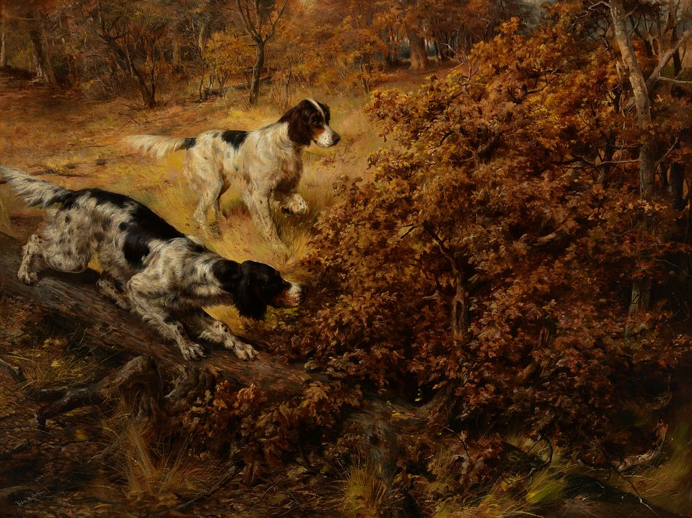 Edmund H. Osthaus, Two Hunting Dogs, 1891, Sold at Auction: $242,000, a World Record for Edmund H. Osthaus