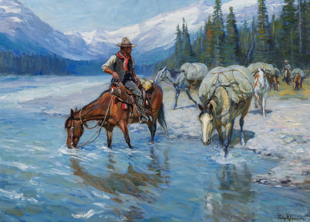 Philip R. Goodwin, Hitting the Trail, Sold for $453,750, a World Record for Philip R. Goodwin