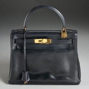 Hermès Kelly 28 black calf