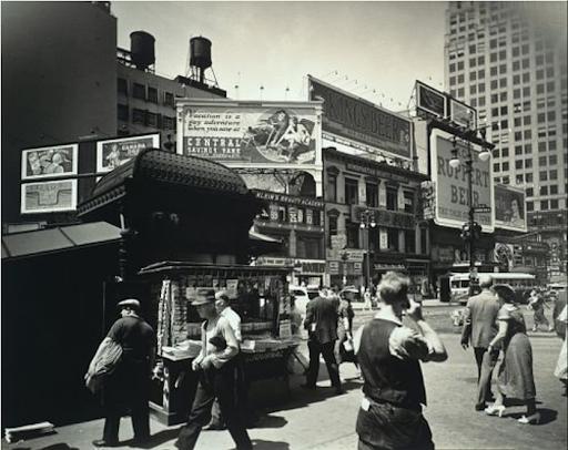 Berenice Abbott, Union Square, Manhattan, 1936. Image from Barridoff Galleries.
