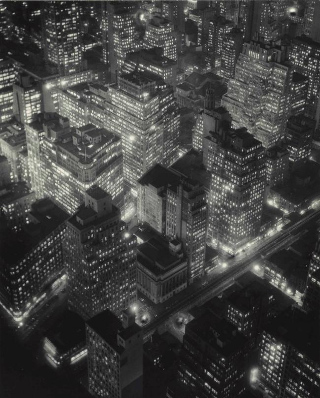Berenice Abbott, New York at Night, 1932. Image from Christie's.