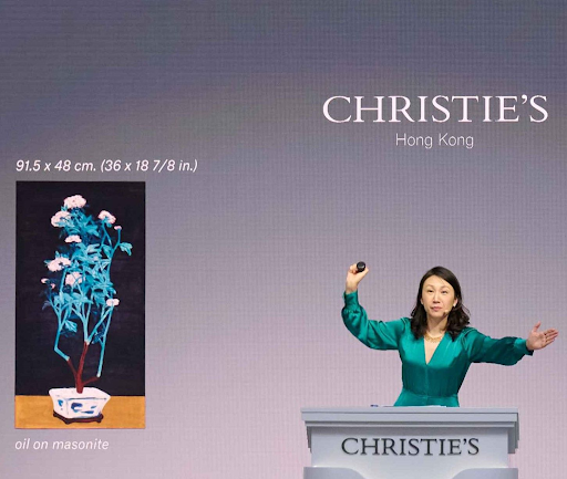 Christie's Hong Kong auctioneer Elaine Kwok. Image courtesy of Christie's.