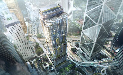 A rendering of the planned Christie's Hong Kong headquarters (The Henderson) by Zaha Hadid Architects for Henderson Land. Image courtesy of Christie's.