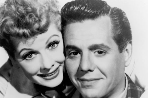 Lucille Ball and Desi Arnaz. Image from Outsider.