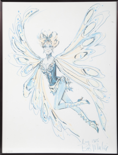 Lucille Ball print related to Danny Thomas television special The Wonderful World of Burlesque. Image from Julien's Auctions.