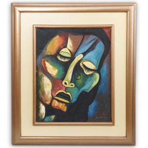 Oswaldo Guayasamin (Ecuador, 1919) Oil on Canvas