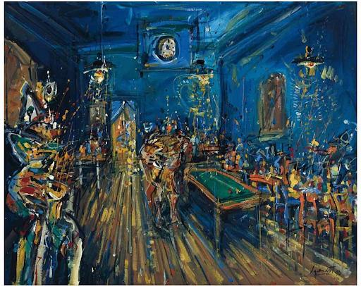 Jazzamoart, Noches de Van Gogh, 1990. Image from Morton Subastas.