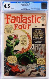 Marvel Comics Fantastic Four 1 CGC 4.5