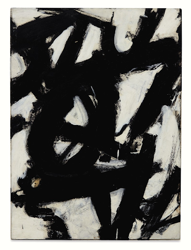 Franz Kline, Composition. Image from Sotheby's.