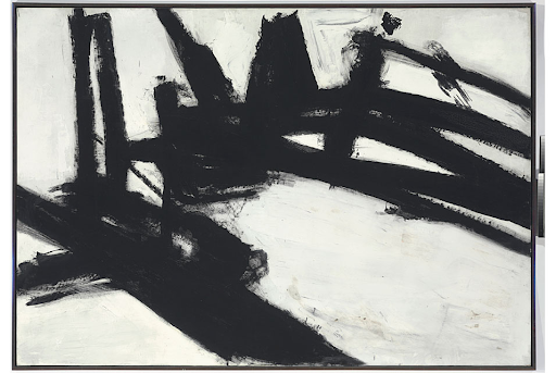 Franz Kline (1910-1962), Untitled. Oil on canvas, 79 x 112 ½ in. Image from ArtDaily.