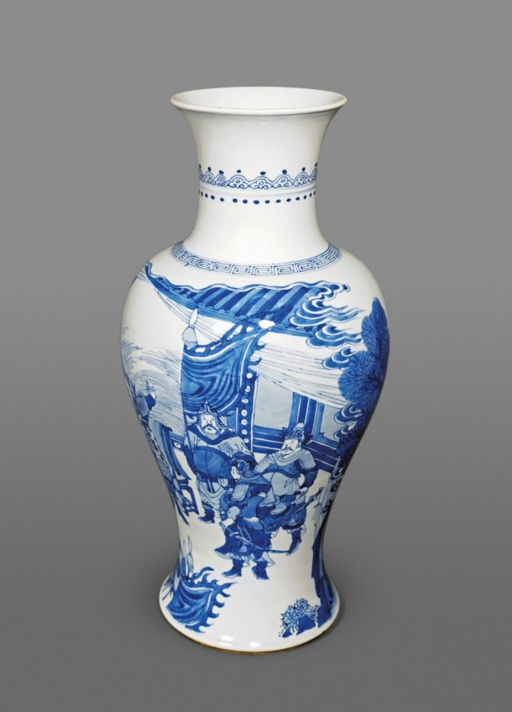 Ralph M. Chait Galleries Superb Chinese blue and white porcelain baluster vase Of the Kangxi period, ca: late 17th century Height: 18 1/4 inches