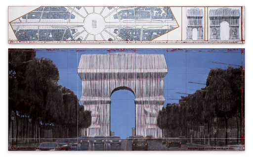 Christo, Arc de Triomphe #2, 2019. Image from Sotheby's.