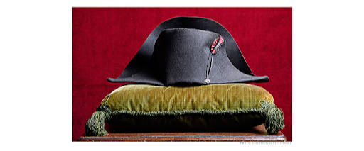 Napoleon bicorne offered by Osenat and Binoche et Giquello in 2014. Image from CNN Business.