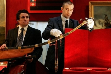 Napoleon's sword presented in an Osenat auction in 2007. Image by Laurent Cipriani for the AP.