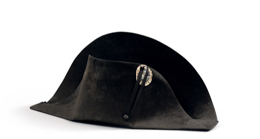 Hat worn by Napoleon during campaign in Poland. Image from Sotheby's.