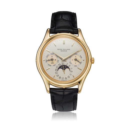 Patek Philippe, reference 3940 First Series perpetual calendar wristwatch. Image from Sotheby's.