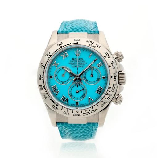 Rolex reference 116519 Daytona Beach wristwatch. Image from Sotheby's.