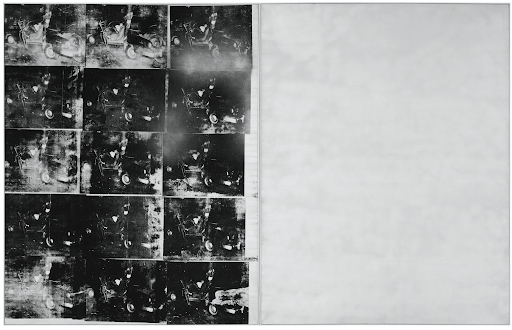 Andy Warhol, Silver Car Crash (Double Disaster), 1963. Image courtesy of Sotheby's.