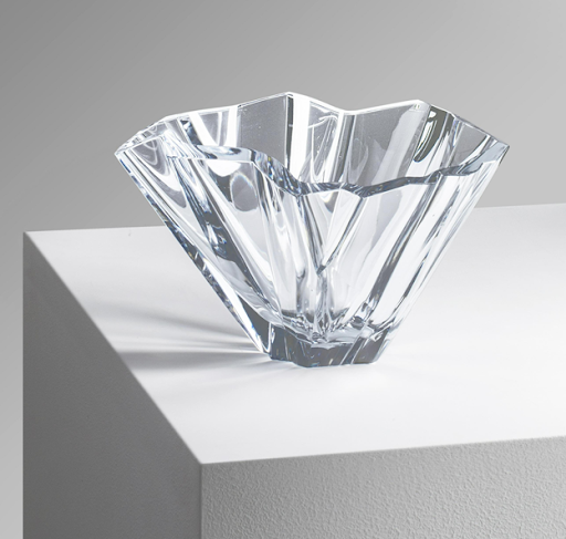 "Tapio Wirkkala, ""Iceberg"" crystal bowl, 1955. Image from Annmaris/PIASA."