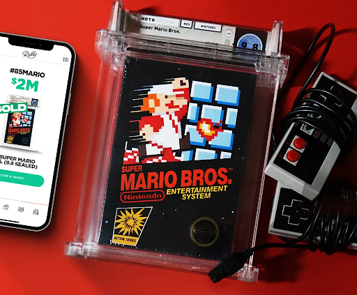 Record-breaking copy of Super Mario Bros. Image from Rally.