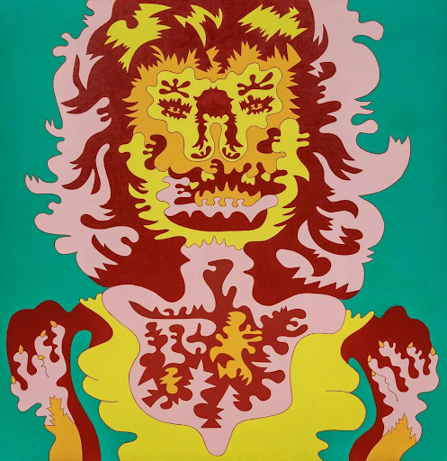 Karl Wirsum, Doggerel III, 1967. Image from Hindman.