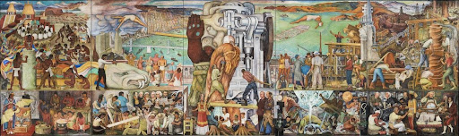 Diego Rivera, The Marriage of the Artistic Expression of the North and of the South on This Continent, also known as Pan American Unity, 1940. Image from the City College of San Francisco.