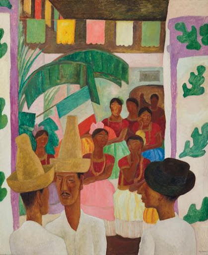 Diego Rivera, The Rivals, 1931. Image from Christie's.