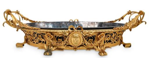 Napoleon III Christofle gilt bronze centerpiece. Image from Akiba Antiques.