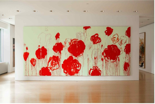 Cy Twombly, Untitled, 2007. Image courtesy of Sotheby's.