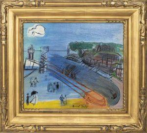 "Raoul Dufy ""Sainte-Adresse"" Oil on Canvas, 1950"