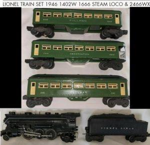 SJ Auctioneers Lionel Trains in Prewar and Postwar Toys Auction